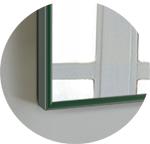 Зеркало прямоугольное в алюминиевой раме Art-com Alum Зеленый