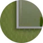 Зеркало прямоугольное ростовое в алюминиевой раме Art-com Alum Серебро