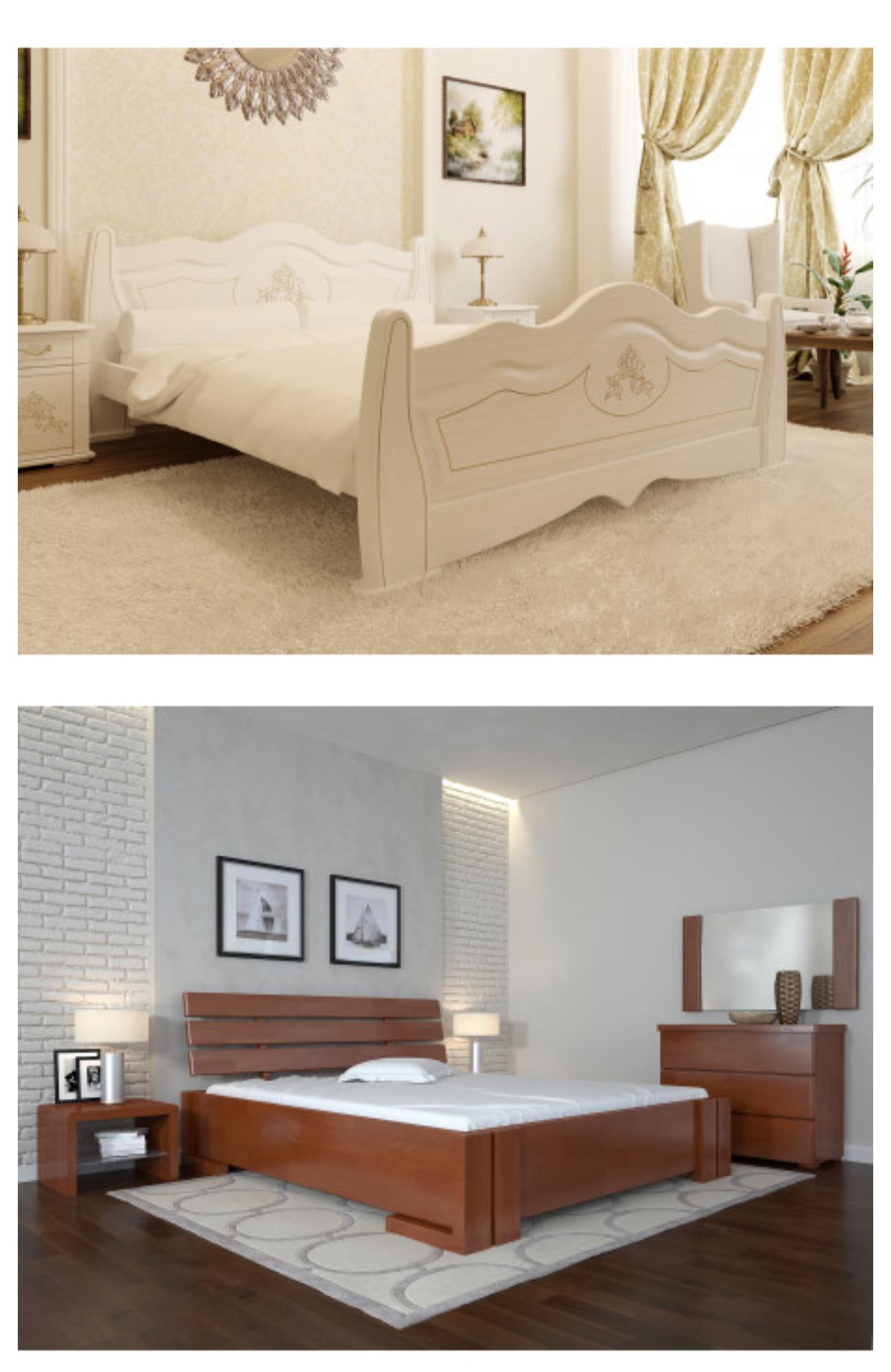 Деревянные кровати в Днепре